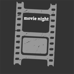 Movie Night Blanc Clip Art