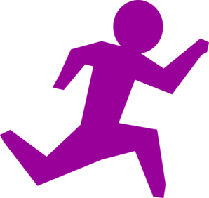 Running Person - Purple Clip Art