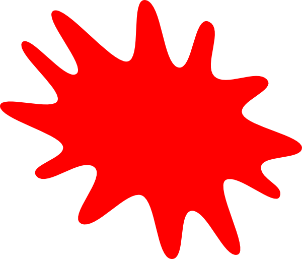 Red Paint Splatter Clip Art at Clker.com - vector clip art ...