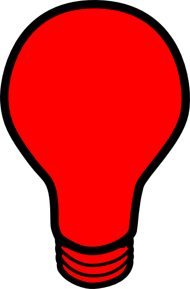 Red Light Bulb Clip Art Vector Online Royalty Free Picture To Pin On Pinterest Thepinsta