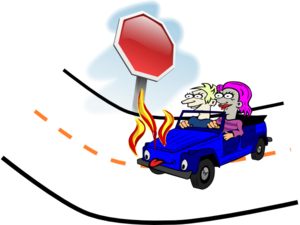 Wrecked Car Fire Clip Art