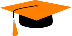 Orange Mortarboard Clip Art