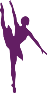 Ballet Medium Purple Clip Art