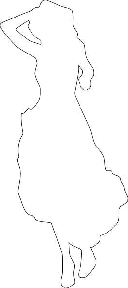 Clean White Silhouette Of A Woman Clip Art At Clker Com