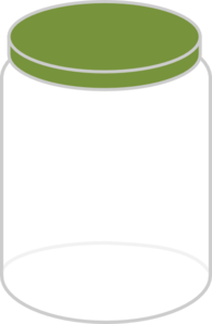Plain Dream Jar Dark Green Clip Art