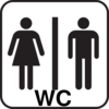 Large Man Woman Bathroom Sign Clip Art