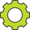 Gear Green Cog Clip Art