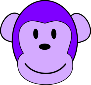 Purple Monkey Clip Art