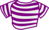 Purple Striped Shirt Clip Art