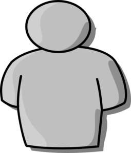 Grey Person Clip Art