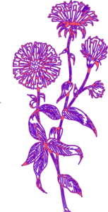 Purple Flower 11 Clip Art