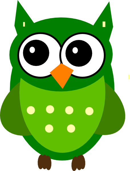Green Owl Clip Art at Clker.com - vector clip art online, royalty free ...