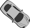 Gray Car - Top View - 320 Clip Art