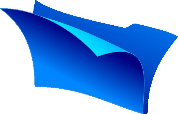 blue empty folder icon clip art at vector clip. Black Bedroom Furniture Sets. Home Design Ideas