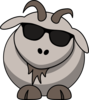 Goat With Sunglasses Clip Art