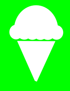 Green White Ice Cream Clip Art