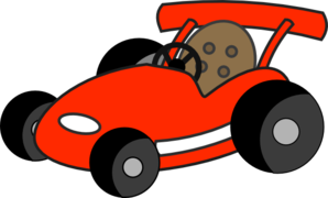 Red Go Cart Clip Art