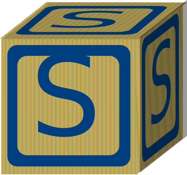 Letter Alphabet Block S Clip Art at Clker.com - vector ...