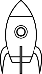 Black And White Rocket Clip Art