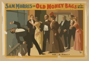 Sam Morris In Old Money Bags A Comedy Drama. Clip Art