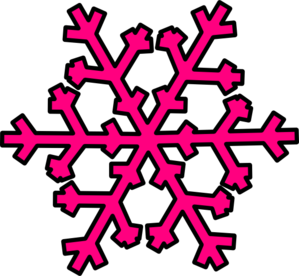 pink snowflake clip art at clker com vector clip art online rh clker com snowflake clipart black and white snowflakes cliparts