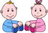 Boy And Girl Babies Clip Art