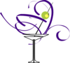 Purple Martini Glass Clip Art