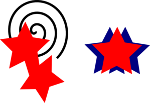 Red And Blue Stars Clip Art
