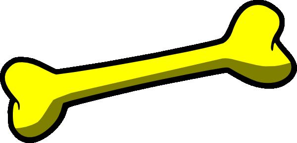 Yellow Dog Bone Clip Art at Clker.com - vector clip art online ...