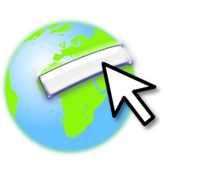 Cursor And Earth Clip Art