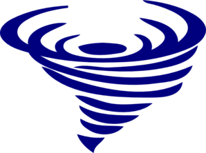 Blue Spinning Whirlwind Clip Art