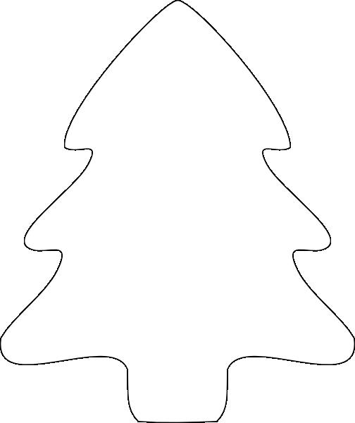 christmas tree outline clip art at clkercom vector clip