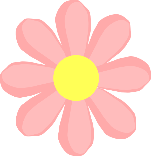 cute flower pink clip art at clker  vector clip art online, Beautiful flower