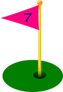 Golf Flag 7th Hole Clip Art