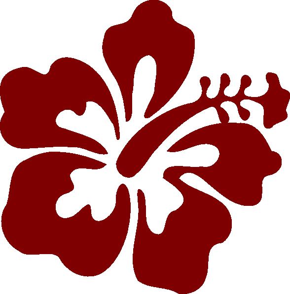 Red Hibiscus Clip Art At Clker Com Vector Clip Art