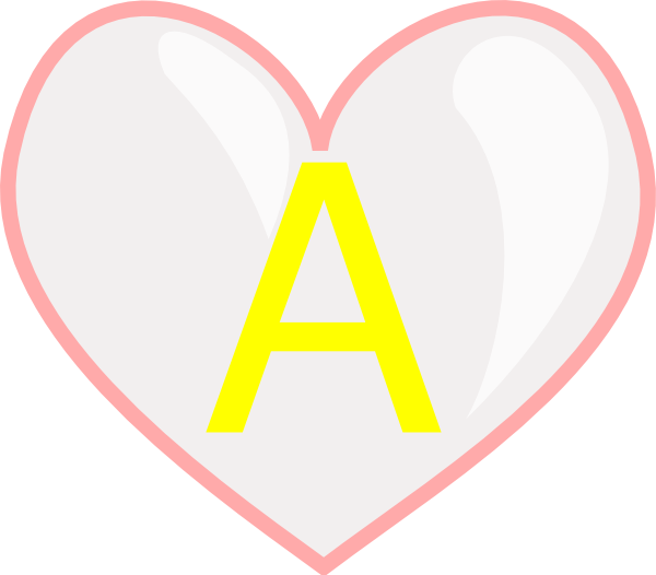 B Letter In Heart Heart With Letter A Cl...