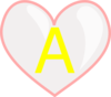 Heart With Letter A Clip Art