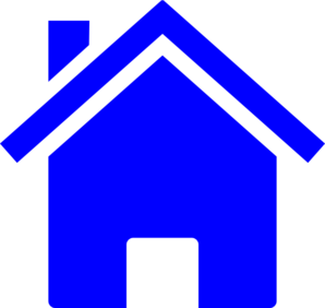Simple Blue House Clip Art