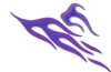 Right Side Blue And Purple Flame Clip Art