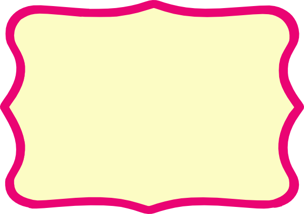 Hot Pink Frame Modified Clip Art at Clker.com - vector clip art ...