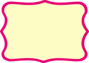 Hot Pink Frame Modified Clip Art