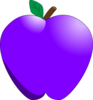 Violet Apple Clip Art