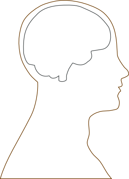 large head and brain outline clip art at clker com