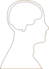 Large Head And Brain Outline Clip Art