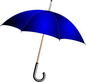 Open Blue  Umbrella Clip Art