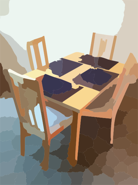 Dining table home clip art at clker vector