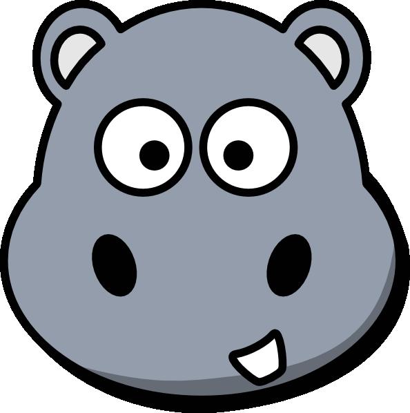 Hippo Head Clip Art at Clker.com - vector clip art online ...