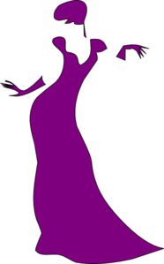 Woman, Dancing, Left Facing Clip Art