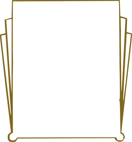 Gold Art Deco Clip Art At Vector Clip Art Online Royalty