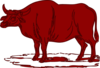 Red Brown Cow Clip Art